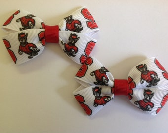 Set of 2 NC State Bows