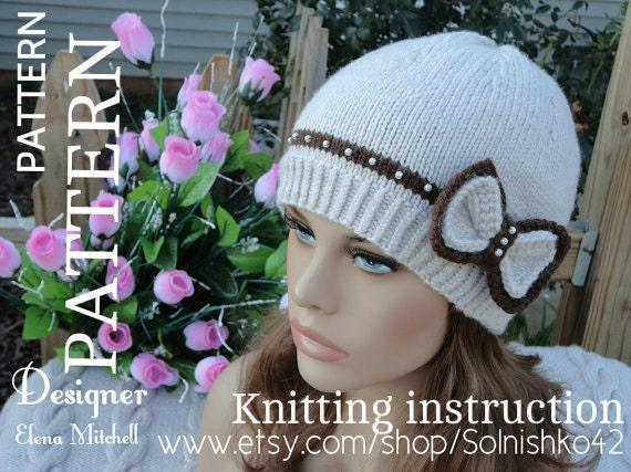 Knitting Pattern Hat Girl Pattern Knit Womens Hat Knitted Hats Knit