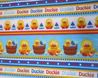 """1/2 yard of 100% cotton Duckie """"in the tub"""" Fabric"""