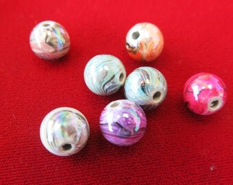 "20pc mixed ""spacer beads"" hand-painted in acrylic style(BC213)"