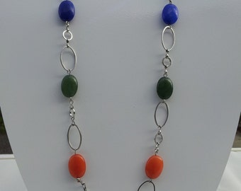Handmade  necklace with real  gemstone  #00N21