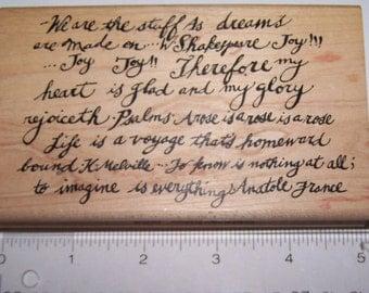 Printworks ~ Annette Watkins ~ Wooden Rubber Stamp ~ Collage ~ Scrap-booking ~ Card Making