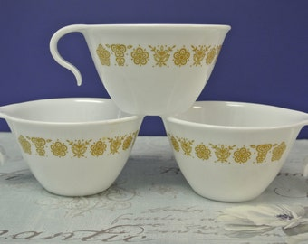 Vintage Corning Corelle Butterfly Gold Cups