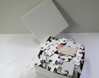 Guest Book Puzzle 200 large pieces. with photo or white  Unique Guest Book / White Blank Puzzle Pieces / Alternative Guestbook  Sign In Book