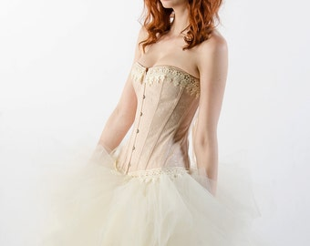 Custom Ivory Dream Prom Dress Wedding Evening Gown Corset Dress