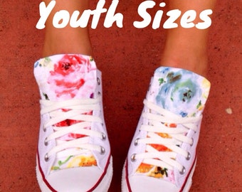 Floral Converse Chuck Taylor All Stars Youth Sizes