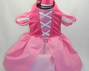 Pink princess dog costume XXS-M