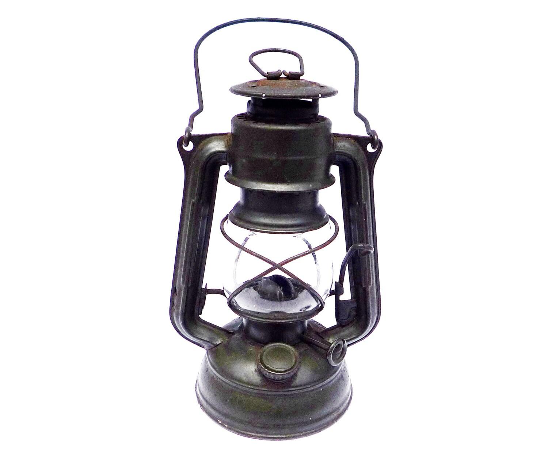 Vintage Small Oil Lantern. Primitive Kerosene Lamp Rustic