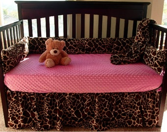Giraffe Baby Crib Bedding Set