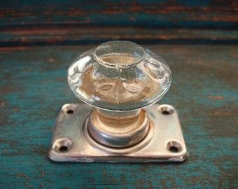 Vintage Glass Decorative Doorknob, Golden Lollipop, Soviet Vintage, 1960s