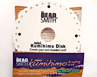 Braiding Disk, Kumihimo Mini Disk, Braiding Supplies, Jewelry Tool, Weaving Disk, Japanese Braiding, UK Seller, Jewelry Supplies