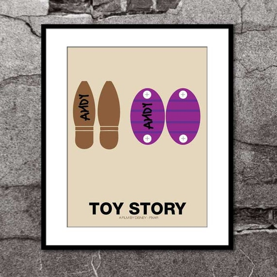 Andy's Toys - Toy Story - Disney Pixar Inspired - Movie Art Poster