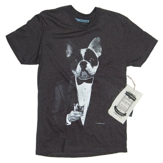Boston terrier t shirt french bulldog shirt dog drinking for Boston rescue 2 t shirt