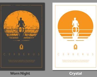 "Mass Effect inspired ""Cerberus"" 13x19"" Print"