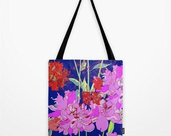 Oriental Bloom // Canvas Tote // Bag // Shopper