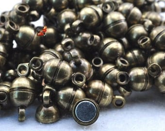 Antique brass coating Magnetic Clasp 5x10mm,20 Set