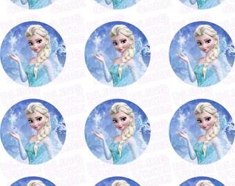 Disney Frozen Princess Elsa Inspired Edible Icing Cupcake Decor Toppers - DF4