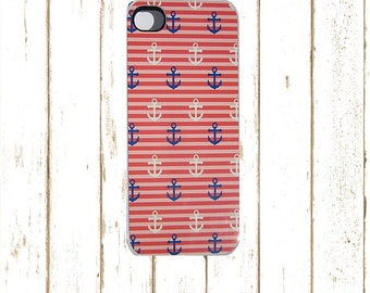 Nautical Iphone 6 Plus Case, Nautical IPhone 7 Plus Case, Anchor Nautical IPhone  5 Case,