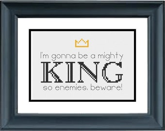 I'm Gonna Be a Mighty King, So Enemies Beware - The Lion King - Disney - PDF Cross-Stitch Pattern