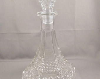 Vintage Anchor Hocking Wexford Decanter Free Shipping USA
