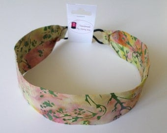 Handmade Hair Accessories Bali Batik Headband Women Headband No-slip Headband Green Fuchsia Yellow Headband
