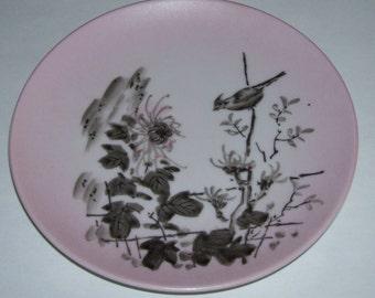 Vintage Dorothy C Thorpe California Scenic Bird Plate