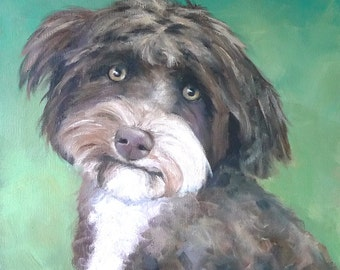 "12""x12"" Custom Oil Portrait of your Pet or favorite animal"