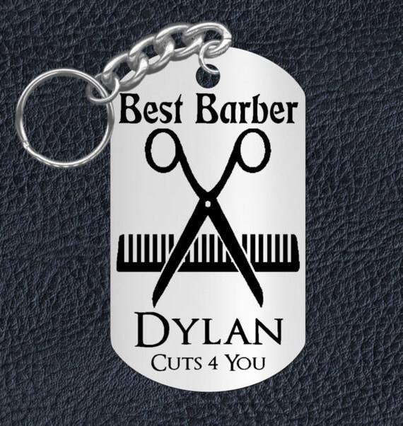 Barber Gifts : Best Barber Keychain Gift for your awesome Barber. Great Gift ...