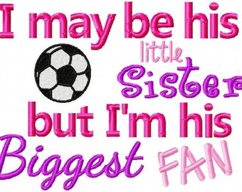 3 Soccer Brother/ Sister PES Embroidery Designs 5x7 -INSTANT DOWNLOAD-