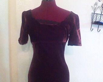 Vogue pattern silk velvet dress