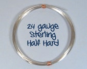Sterling Silver Wire - 24ga HH  - Choose Your Length
