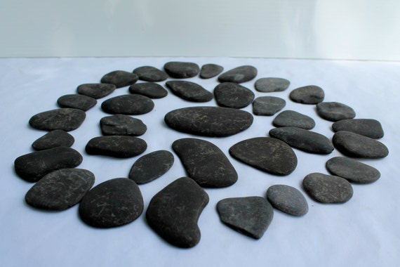 Guestbook stones flat stone diy craft supplies beach wedding for Where to buy flat rocks for crafts
