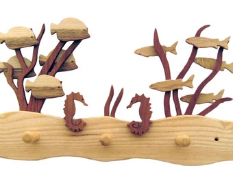 """Wardrobe """"Coralsea"""", made of different kind of wood"""