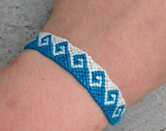 Customizable Greek Wave Friendship Bracelet