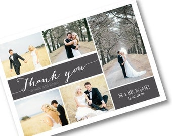Wedding Thank you postcard - Rustic - Custom Made to Order