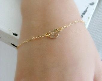 Heart Bracelet Initial Bracelet Heart Jewelry Monogram  Initial Jewelry Girls Jewelry Girls Bracelet Monogram Jewelry hand stamped heart