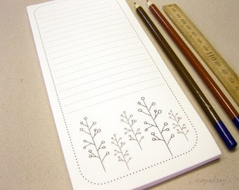Notepads, memo pad, stationery, pads, bloc, to do list, list, writing pad, office supplies - 3 Notepads - little tree