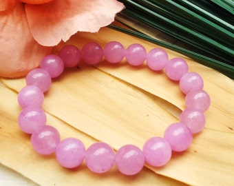 Pinkish Lavender Purple Bead Bracelet//Light Pink Bead Bracelet//Light Purple Bead Bracelet