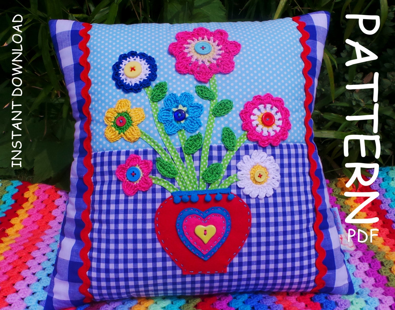 Crochet pillow pattern valentines day gift applique cushion crochet pillow pattern valentines day gift applique cushion pattern patchwork pillow pattern crochet applique pattern valentines gift pdf bankloansurffo Image collections