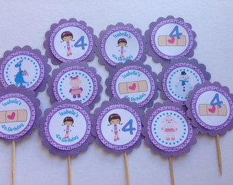 Doc Girl Personalised Cupcake Toppers