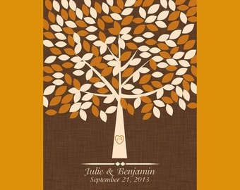Fall Wedding Guests Signature Tree, Design Your Own Signature Tree, Wedding Guest Book Alternative, Signature Tree for 175