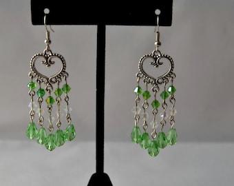 Apple Green Chandelier Earrings