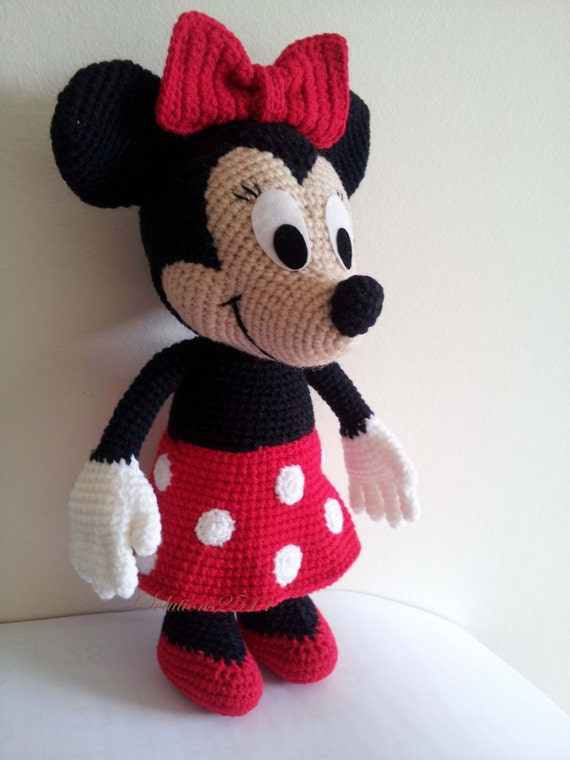 Minnie Mouse Handmade crochet doll birthday gift Baby shower