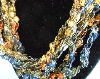 Trellis Necklace/ Crochet Necklace Item No. B 113