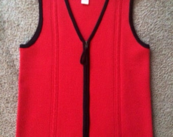 Red & Black Vest Size Small