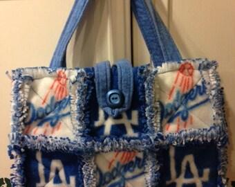 Rag Purse Made With LA Dodger Fleece