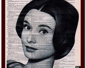 Audrey Hepburn Poster Home Art Print: musical Notes Art Print Wall Decor Mixed Media Art
