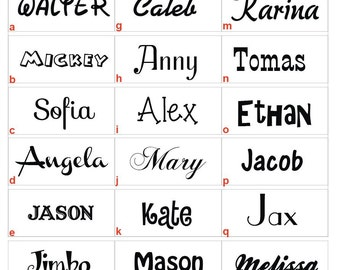 Custom Name Wall decal Vinyl Wall Sticker Decals Personalized Art Cool wall Decals by DecalIsland-Custom name Your Child's Name decal SD 077