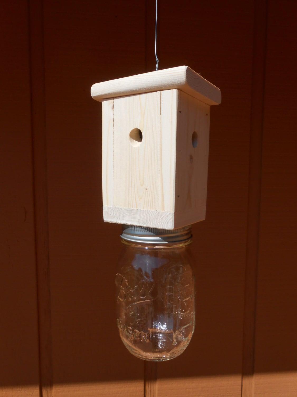 1 Carpenter Bee Trap Wood Boring Bee Trap Including Mason Jar