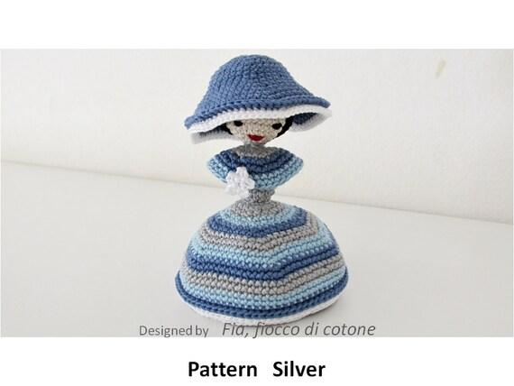 Miniature Amigurumi Doll : Pattern silver miniature doll amigurumi crochet princess